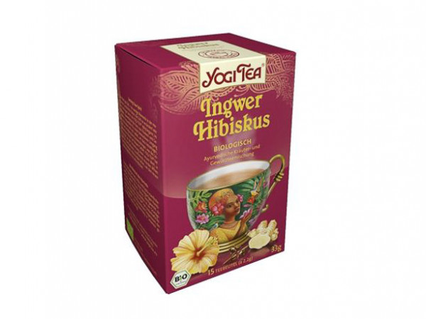 YOGI TEA® Ingwer Hibiskus