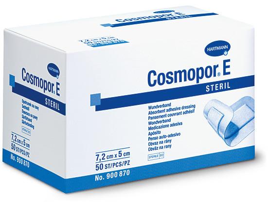 Cosmopor® E 10 x 8 cm (IM 6,5 x 3,8 cm), steril, einzeln eingesiegelt