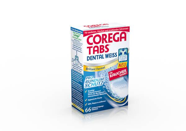 Corega Tabs Dental Weiss für Raucher 66 Tbl