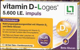 vitamin D-Loges® 5.600 I.E. impuls Geltab