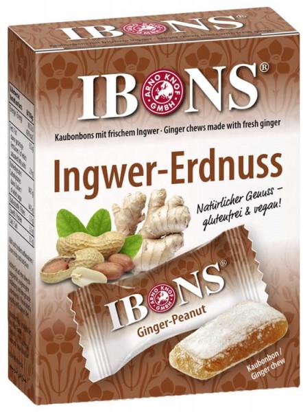 IBONS Ingwer-Erdnuss Kaubonbon