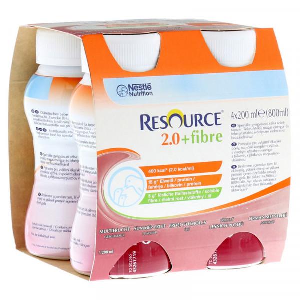 Resource® 2.0+fibre Multifrucht 4x200ml