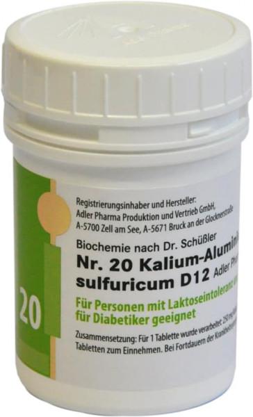 Schüssler Salz Nr. 20 D12 Kalium Aluminium sulf. Kautabletten