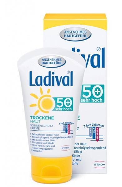 LADIVAL Trockene Haut Sonnenschutz Creme für das Gesicht LSF 50+