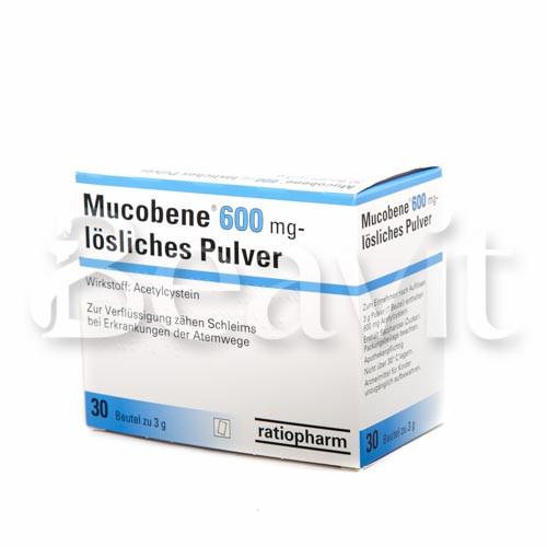 Mucobene 600 mg - lösliches Pulver