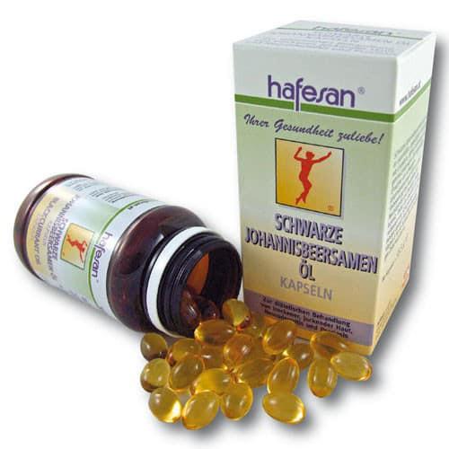 Hafesan Schwarze Johannisbeersamenöl 500 mg Kapseln