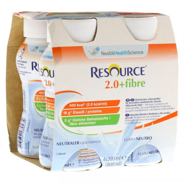 Resource® 2.0+fibre Neutral 4x200ml