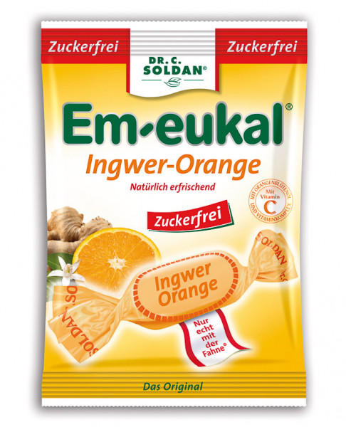Em-eukal Orange Ingwer zuckerfrei 75g