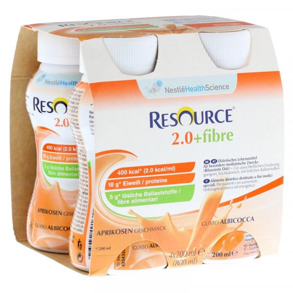 Resource® 2.0+fibre Aprikose 4x200ml
