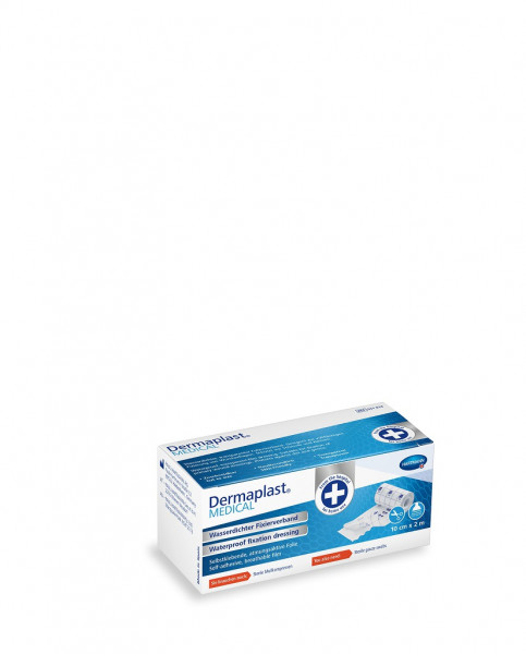 Dermaplast® MEDICAL Wasserdichter Fixierverband 10 cm x 2 m, 1 atmungsaktive Folie, 10 cm x 2 m,